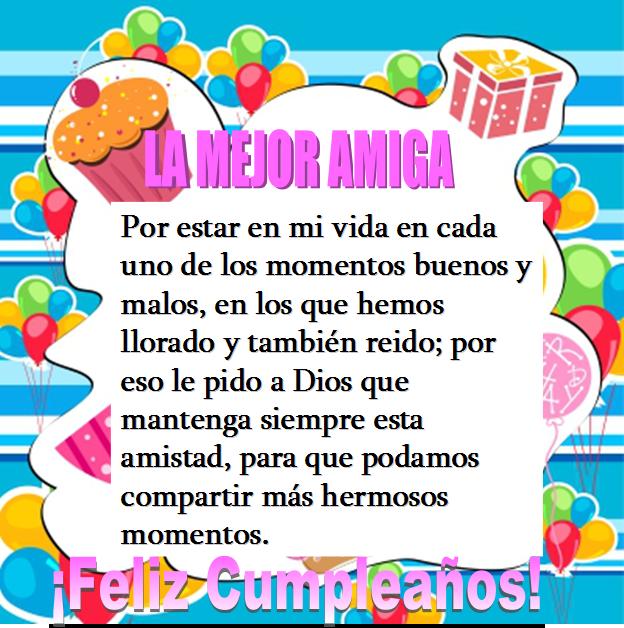 Frases Para Mi Mejor Amiga Que Cumple Años 2 Happy