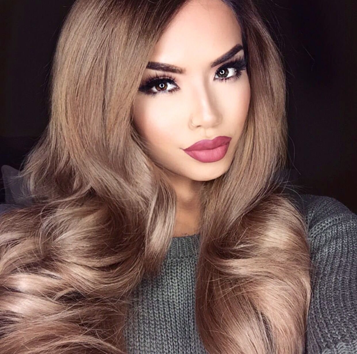 Image result for very light brown hair