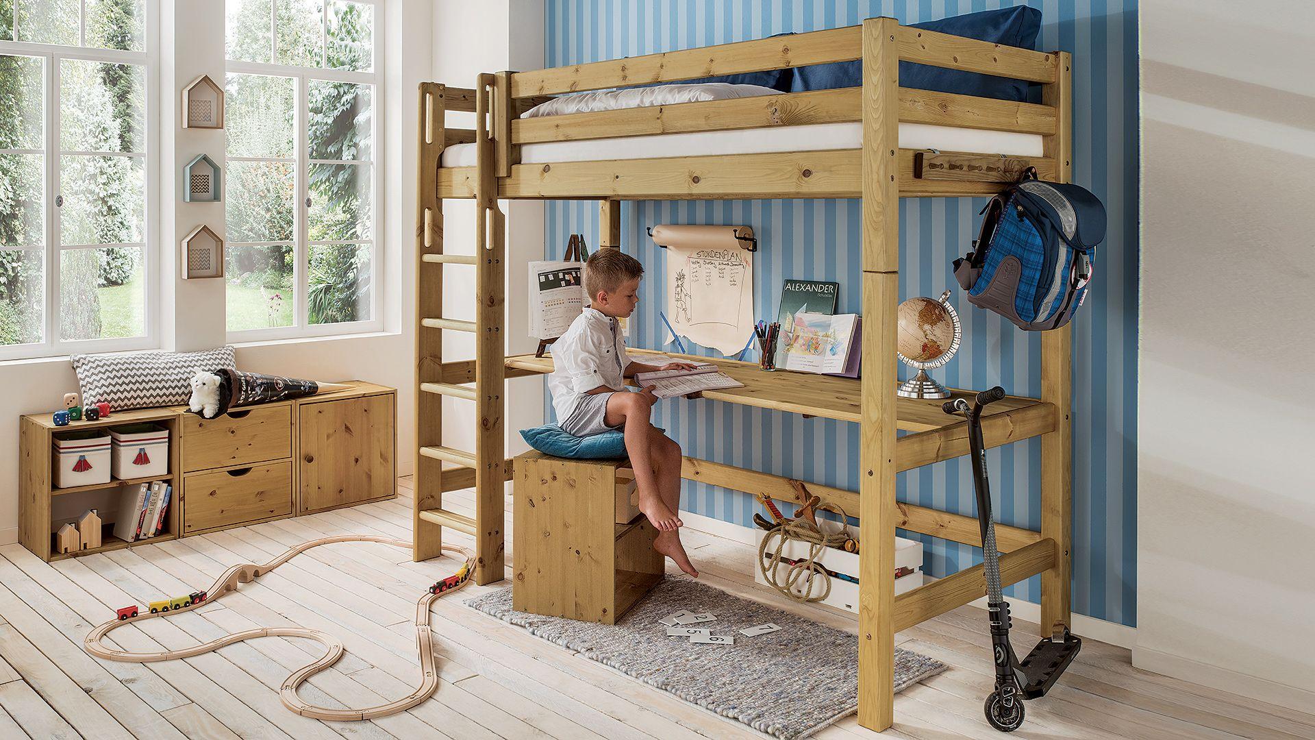 Hochbett Kiddy Hochbett Bett Und Regalwurfel