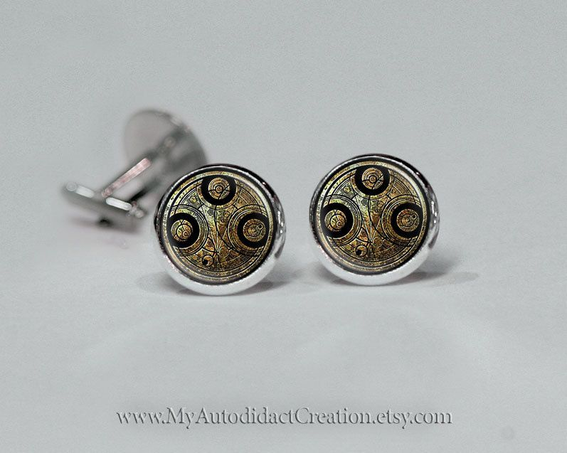 Time Lord Doctor Who Cufflinks BBC Dr Who by MyAutodidactCreation, $9.95