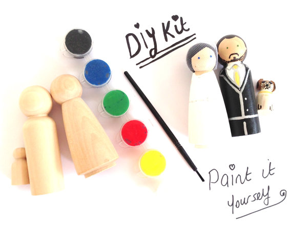 Diy wedding cake topper kit with 1 bride groom and paint kit naked diy wedding cake topper kit with 1 bride groom and paint kit naked ready to solutioingenieria Choice Image