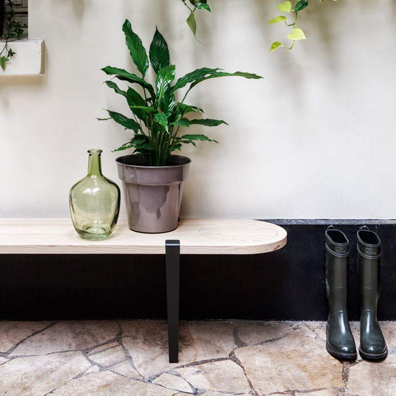 Petit Banc Entree petit banc d'entrée créé avec les pieds de table modulables tiptoe