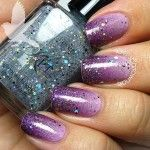 Purple gradient with glitter