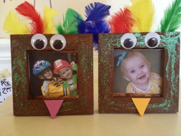 Thanksgiving preschool craft turkey frame by ophelia