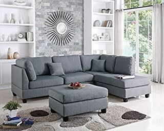 Novogratz Brittany Sectional Futon Sofa Converts From Sofa Chaise In 2020 Sectional Sofa Couch Fabric Sectional Sofas Furniture