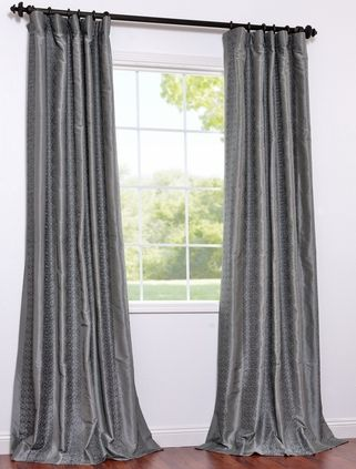 silk drapes.  these don't have a pleat.