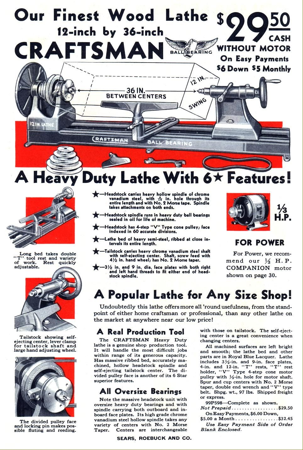Craftsman Companion Dunlap Wood Lathes 1920s To 1960s