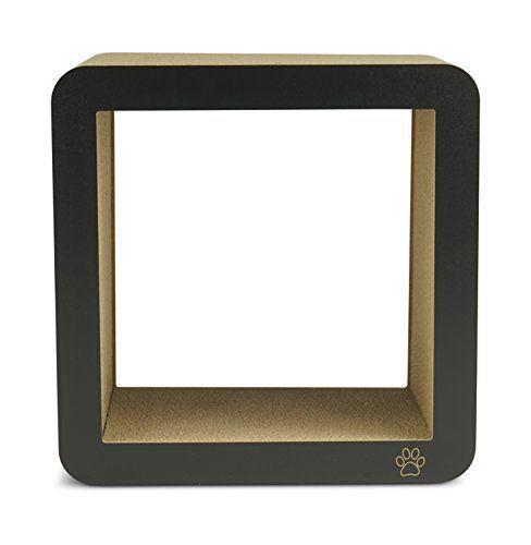 Oliver & Iris Premium Cat Scratcher Square Box Post, Black