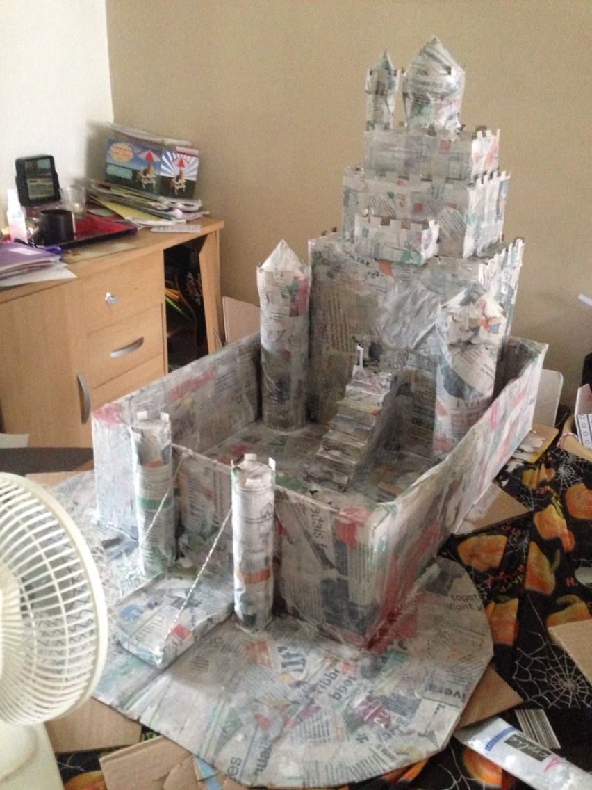 Next paper m ch the castle with newspaper and watered for Buy paper mache glue
