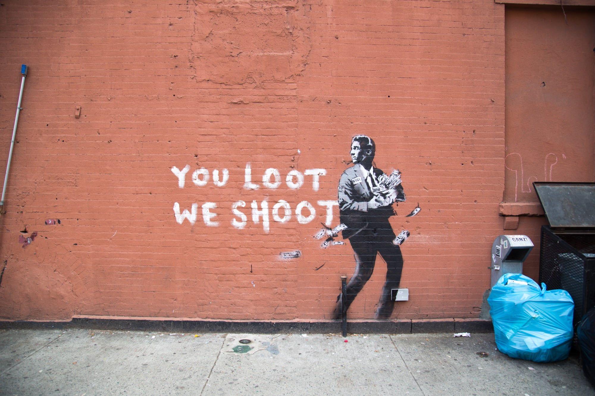 Banksy Graffiti Concrete Urban Wall Street Art 1080p Wallpaper Hdwallpaper Desktop Street Art Wall Street Art Banksy