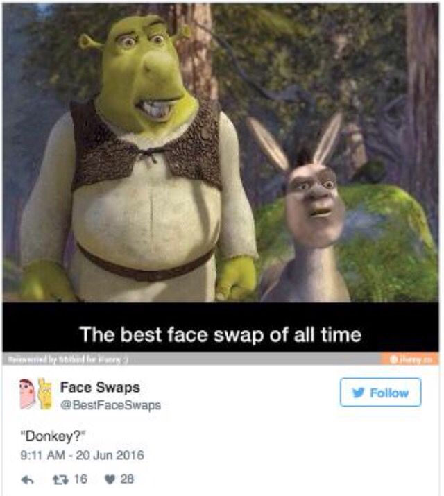 I Don T Know About Of All Time But It Is Funny Shrek Memes Funny Face Swap Shrek
