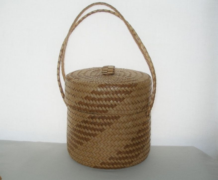 GORGEOUS Hand Crafted BASKET BOX Lined BAG Intricate MESMERIZING Amazing STORAGE