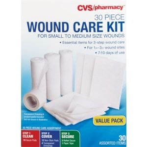 Cvs Health 30 Piece Wound Care Kit Large Cvs Wound Care Cvs