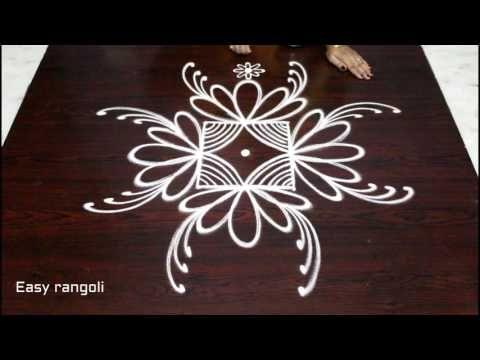 Easy Creative Rangoli Designs With 3x3 Dots Beautiful Kolam Designs Easy Rangoli Designs
