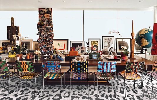 Ohhh, those chairs. (DVF's home in Architectural Digest)