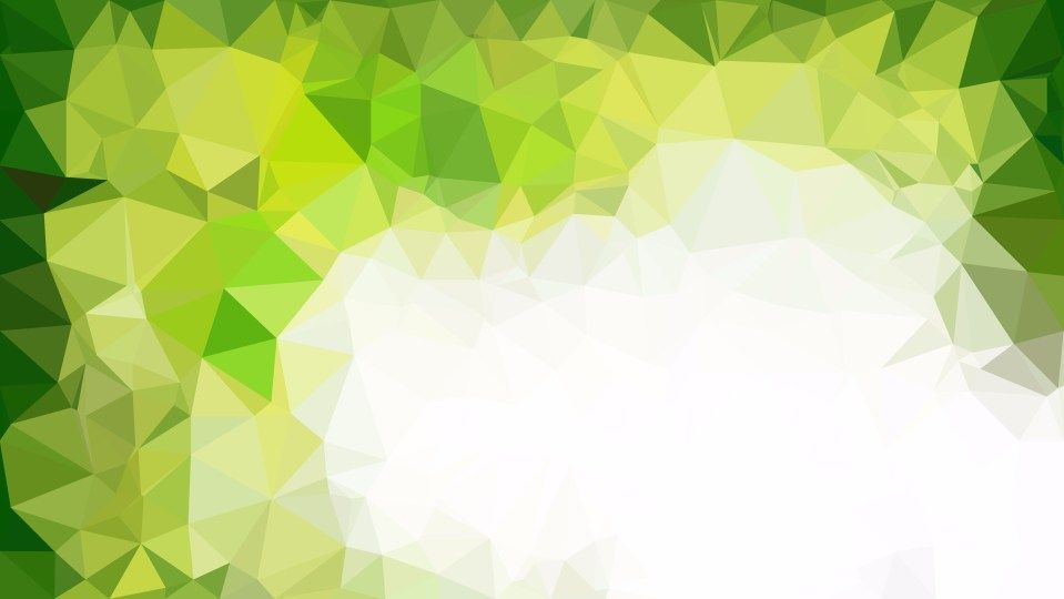 Abstract Green Yellow And White Polygonal Background Template