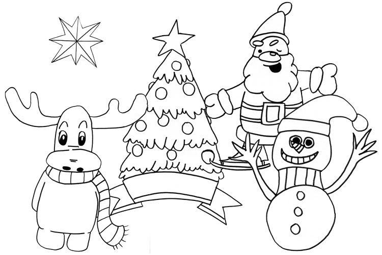 einfache weihnachtliche motive malen - blume malen