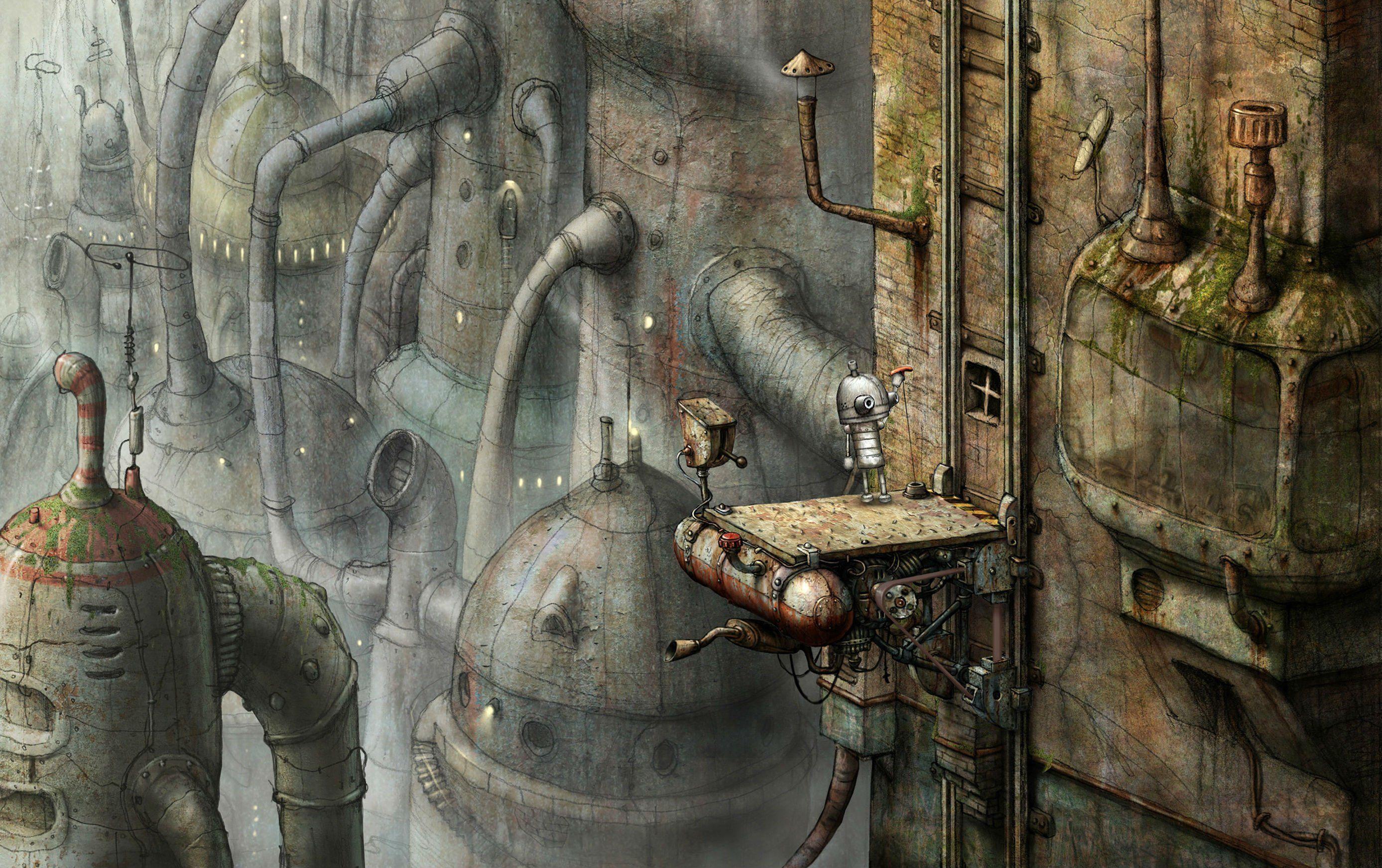 Machinarium Puzzle Point And Click Adventure Sci Fi Robot Steampunk Graphic Family Steampunk Art Steampunk Art