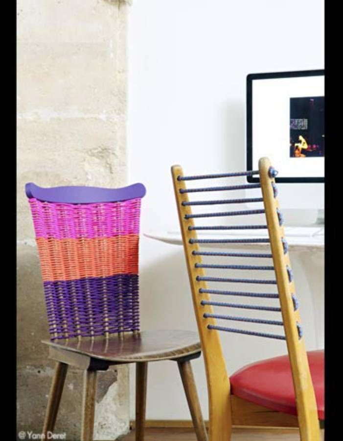 Bricolez Broc Elle Decoration Chaise Scoubidou Scoubidou Deco Maison