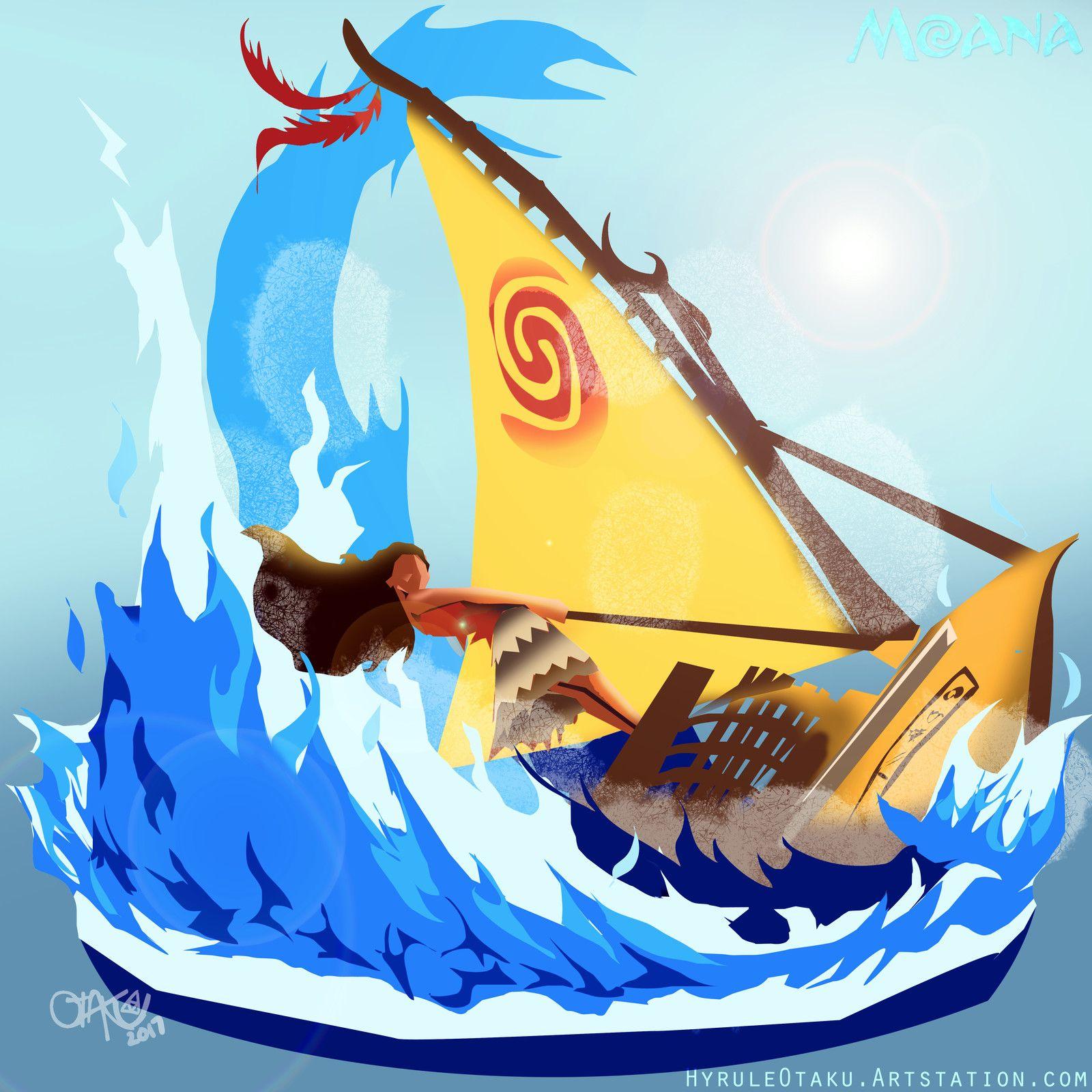 Open Ocean Moana Fanart Jo Torres On Artstation At
