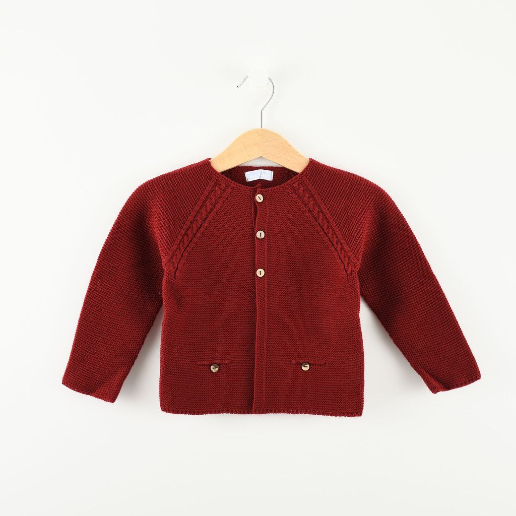 Girls Red Spanish Cardigan Spanish Baby Clothes Knitted Cardigan