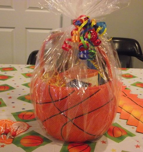 Basketball themed gift basket created for our march madness themed basketball themed gift basket created for our march madness themed office party this would also be a fun kids idea this soft basketball basket contains negle Gallery