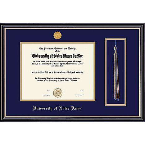 University of Notre Dame 8.5\'\' x 11\'\' Prestige Diploma Frame with ...