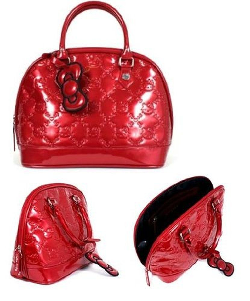 HELLO KITTY TANGO RED PATENT EMBOSSED TOTE Bag  05dbe95ff85c2