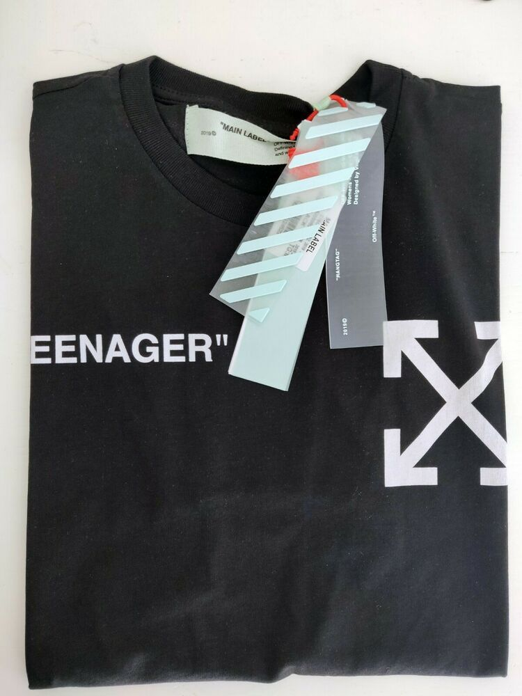 Authentic Off White Teenager T Shirt In Black