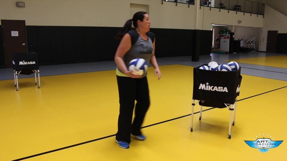 Freeball Footwork Drill For Young Players Coaching Volleyball Volleyball Workouts Volleyball Drills