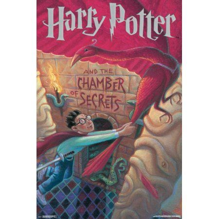 24x36 Harry Potter And The Chamber Of Secrets Walmart Com Harry Potter Book Covers Chamber Of Secrets The Secret Book