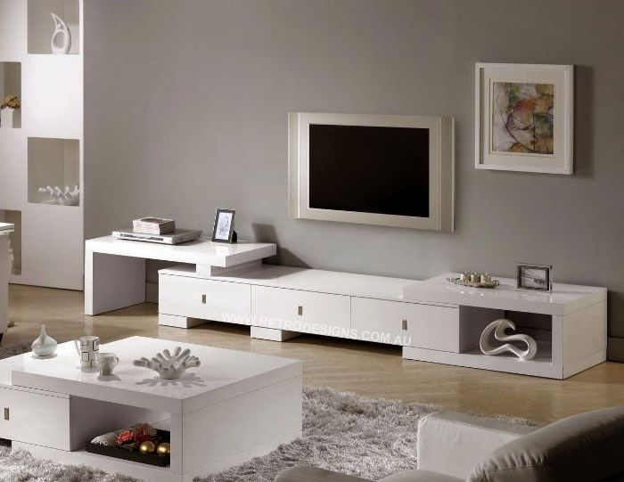 Off White Tv Kast.Retro Tv Cabinet With Extenable Sides Plus Drawers Only 749 This