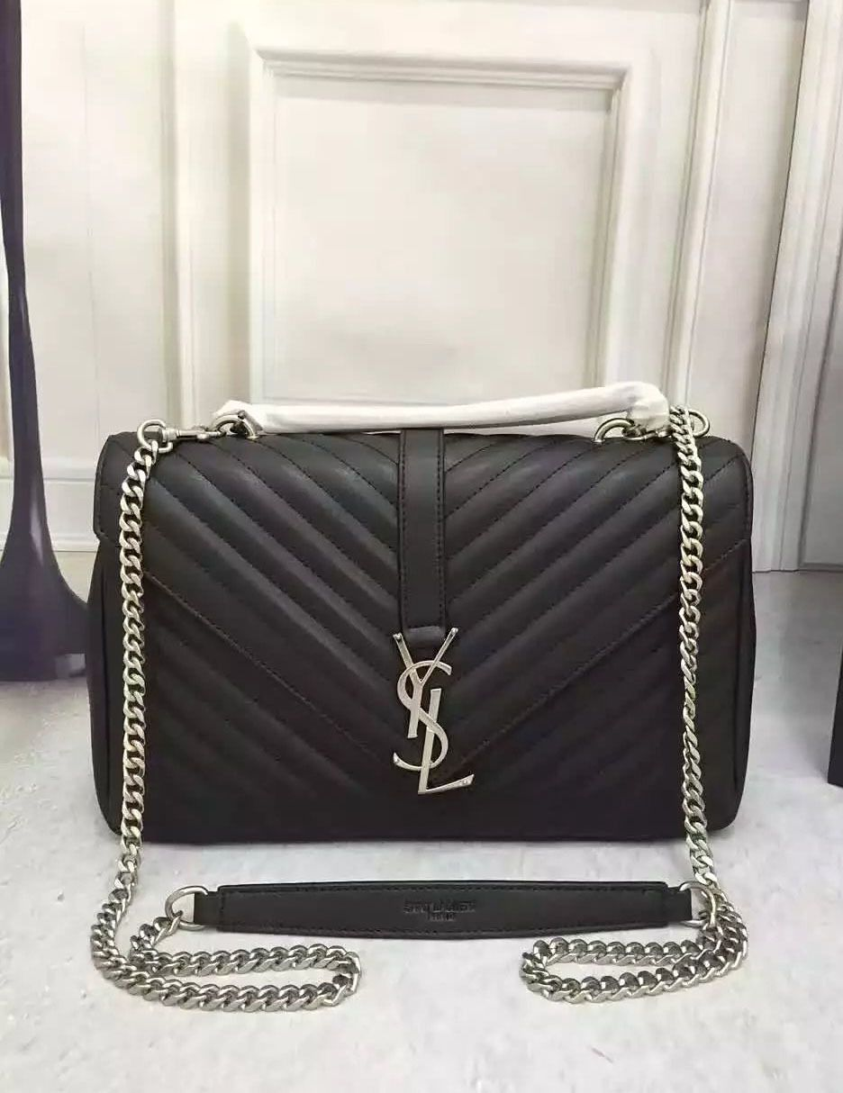 e43f57731b86 YSL Monogramme Chevron Flap Bag. Find this Pin and more on Replica Designer  Handbags ...