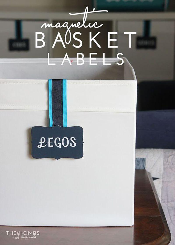 Label ANY Bin or Basket with Basket Labels