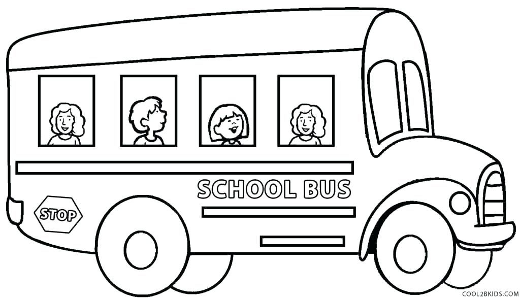 School Bus Coloring Pages To Print