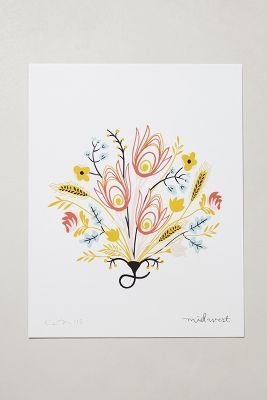 Botanical Print by Illustrator & Graphic Designer Caitlin McClain - Anthropologie