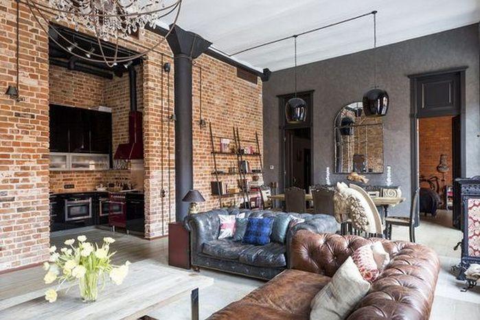 50 Amazing Brick Wall Interior Living Room Ideas 16 Loft Interiors Loft Design Loft Style Living