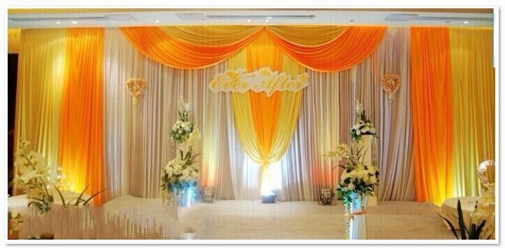 Indian wedding mandap backdrops curtains buy indian for Background decoration for indian wedding