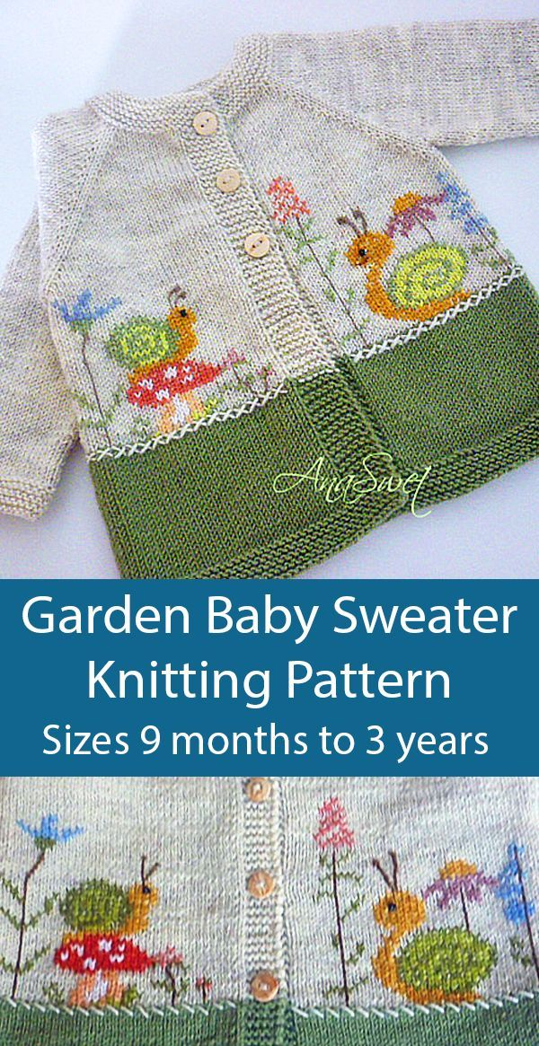 Photo of # Baby Knits Animals Knitting Pattern for Garden Baby Sweater