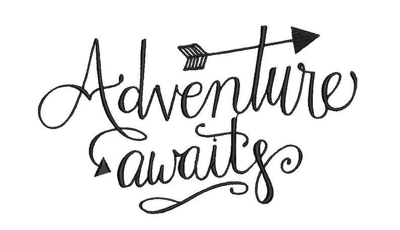 Adventure Awaits Embroidery Design, outdoor Embroidery, camping Embroidery Design, Girl embroidery d