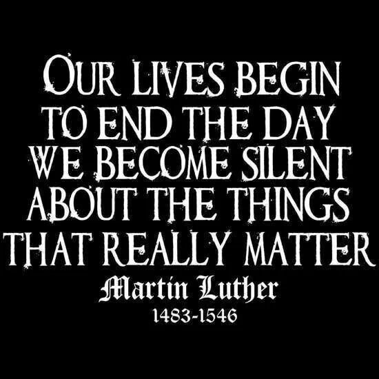 Martin Luther on apathy