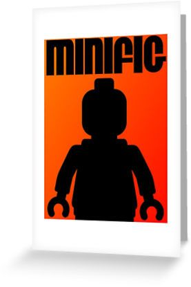 """""""Retro Large Black Minifig by Customize My Minifig"""" Greeting Cards & Postcards by ChilleeW 