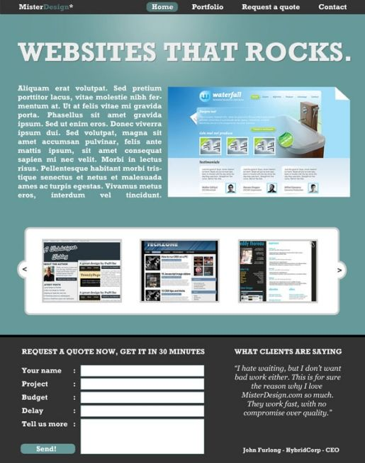 Create A Webdesign Layout In Photoshop Web Design Web Design Tutorials Web Layout Design