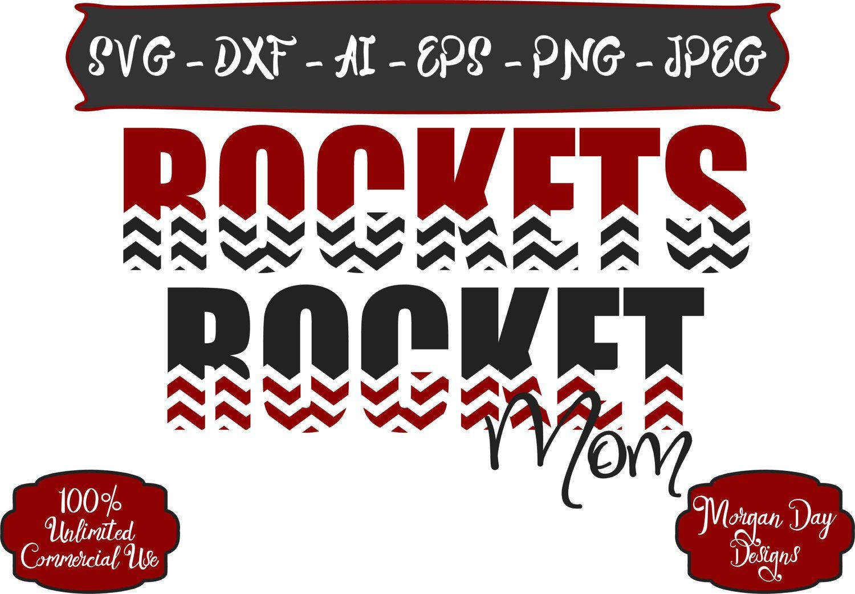 Rocket Mom SVG Basketball SVG Baseball SVG Football