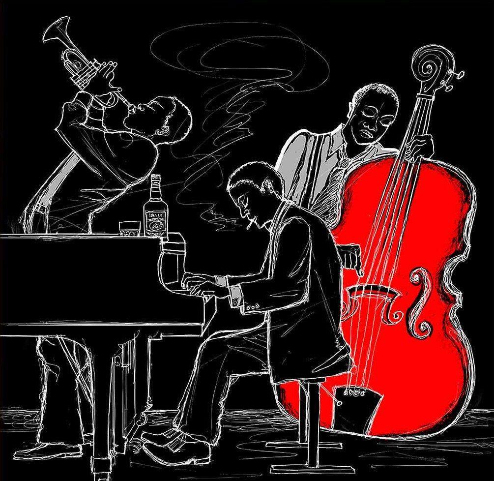Black Jazz Band African American Art Music Band Wall Decor Etsy In 2021 Jazz Art Jazz Music Art Art Music