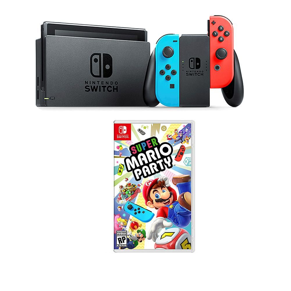 Nintendo Switch Bundle With Super Mario Party Game And Accessories In 2020 Nintendo Nintendo Switch Mario Kart 8