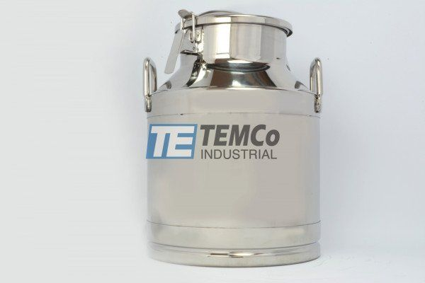 Temco Stainless Steel Milk Can Ag0048 20 Liter 5 25 Gallon Wine Pail Bucket Tote Jug Milk Cans Canning Pail Bucket