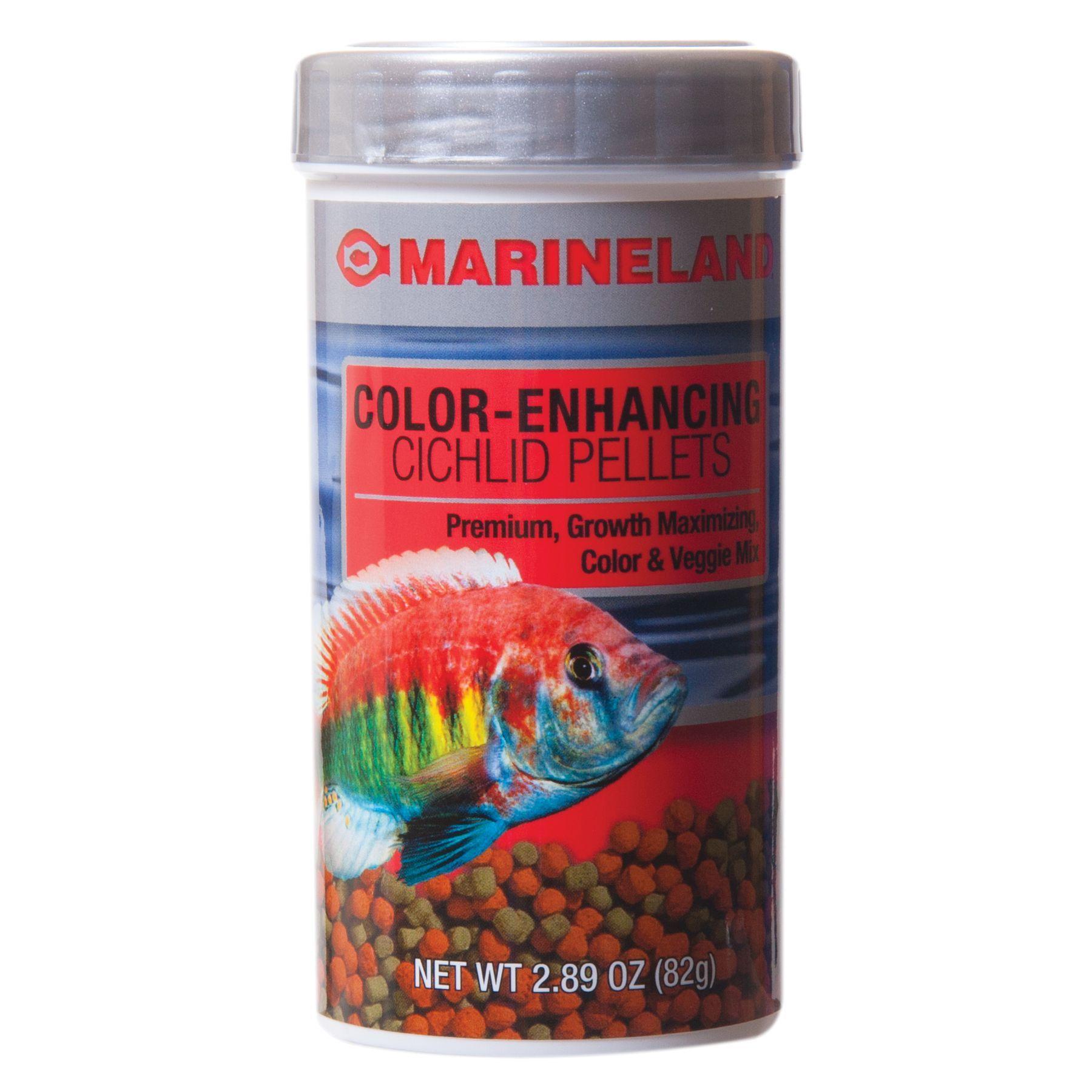marineland cichlid color enhancing pellets fish food size 2 89 oz