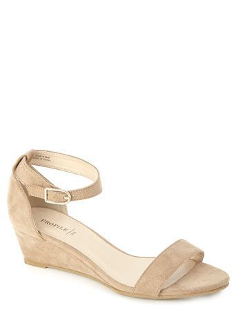 9dc623473e46a Nude Demi Wedge Sandal with Ankle Strap