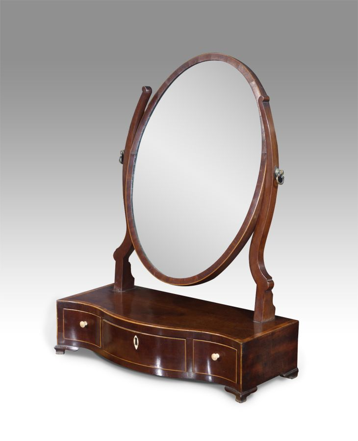 Antique toilet mirror